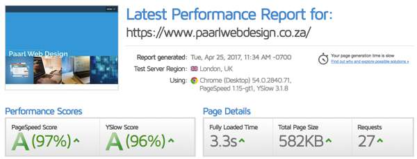 paarl web design seo optimized